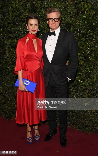 Livia Firth and Colin Firth attend the London Evening Standard Theatre Awards 2017 at the Theatre Royal Drury Lane on December 3 2017 in London...