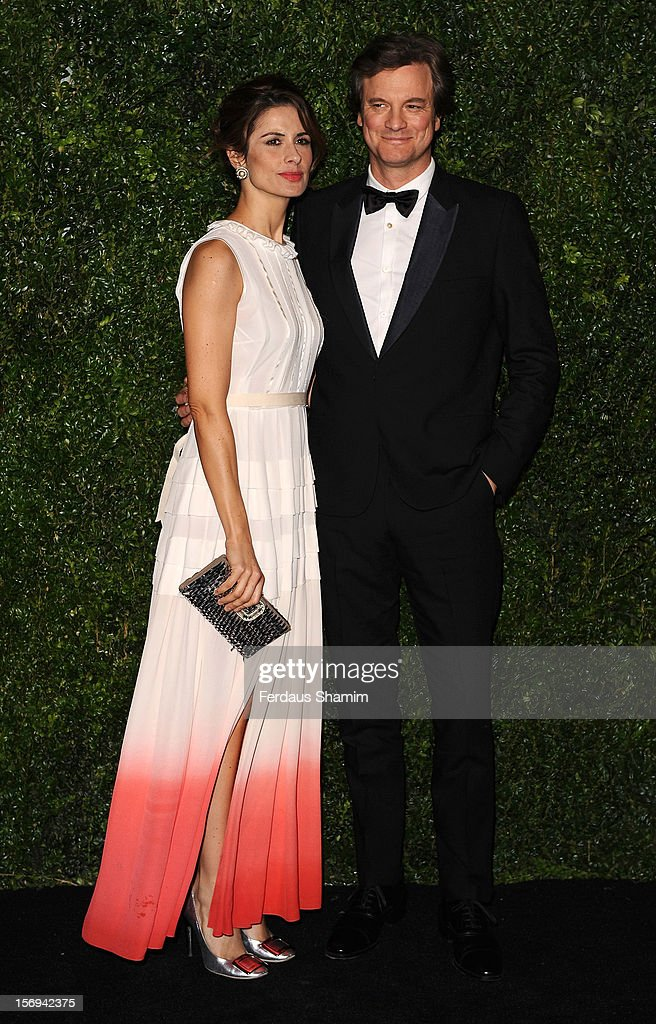 Livia Firth and Colin Firth attend the London Evening Standard Theatre Awards on November 25, 2012 in London, England.