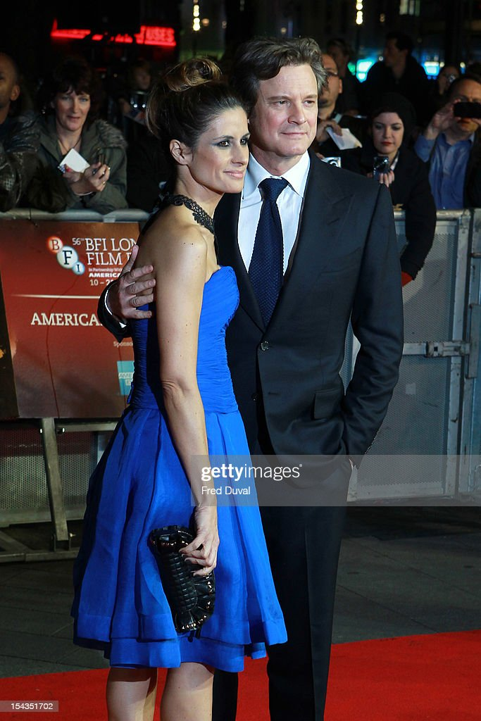Livia Firth and <a gi-track='captionPersonalityLinkClicked' href=/galleries/search?phrase=Colin+Firth&family=editorial&specificpeople=201620 ng-click='$event.stopPropagation()'>Colin Firth</a> attend the Premiere of 'Crossfire Hurricane' during the 56th BFI London Film Festival at Odeon Leicester Square on October 18, 2012 in London, England.