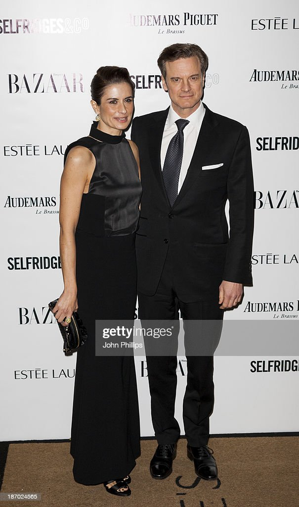 Livia Firth and <a gi-track='captionPersonalityLinkClicked' href=/galleries/search?phrase=Colin+Firth&family=editorial&specificpeople=201620 ng-click='$event.stopPropagation()'>Colin Firth</a> attends the Harpers Bazaar Women of the Year awards at Claridge's Hotel on November 5, 2013 in London, England.