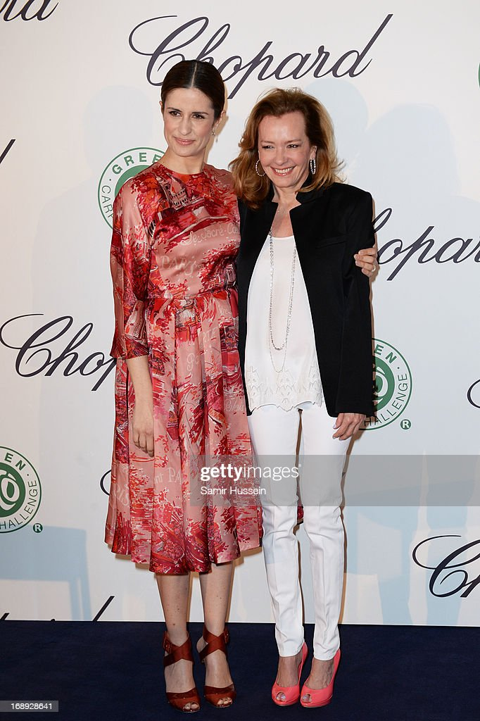 Livia Firth and Co-President of Chopard Caroline Gruosi-Scheufel attend the Chopard Lunch during the 66th Annual Cannes Film Festival on May 17, 2013 in Cannes, France.
