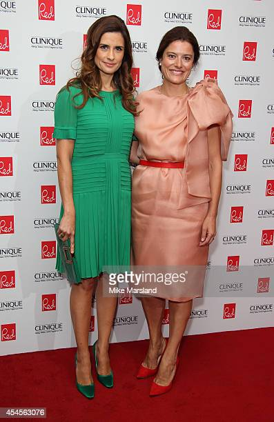 Livia Firth and Miriam Gonzalez attends the Red magazine Women of the Year awards at Ham Yard Hotel on September 3 2014 in London England