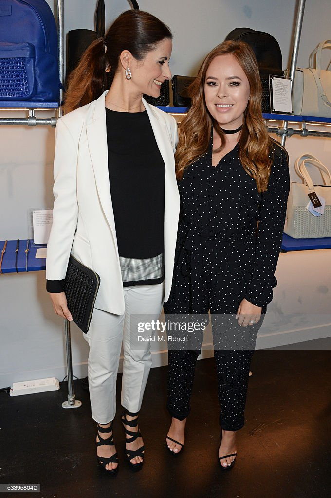 Livia Firth (L) and <a gi-track='captionPersonalityLinkClicked' href=/galleries/search?phrase=Tanya+Burr&family=editorial&specificpeople=9983702 ng-click='$event.stopPropagation()'>Tanya Burr</a> attend the Bottletop Regent Street store launch on May 24, 2016 in London, England.