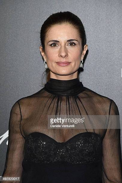 Livia Firth arrives to the Chopard Backstage Dinner Afterparty at the CannesMandelieu Aerodrome during the 67th Annual Cannes Film Festival on May 19...