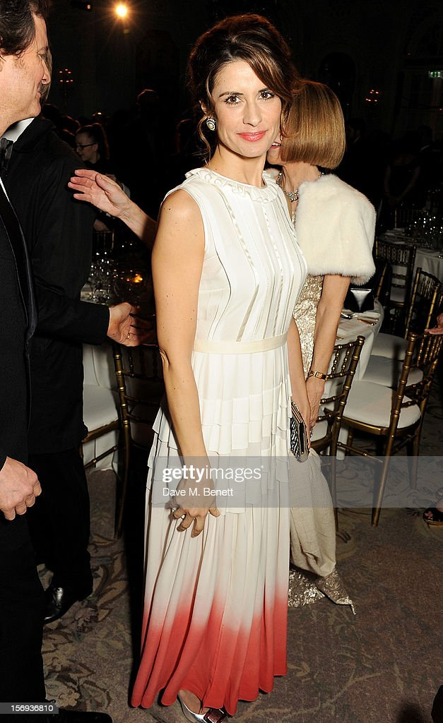 Livia Firth attends a drinks reception at the 58th London Evening Standard Theatre Awards in association with Burberry at The Savoy Hotel on November 25, 2012 in London, England.