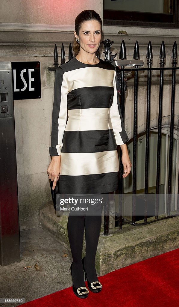 Livia Firth attends a gala dinner hosted by the BFI ahead of the London Film Festival at 8 Northumberland Avenue on October 8, 2013 in London, England.