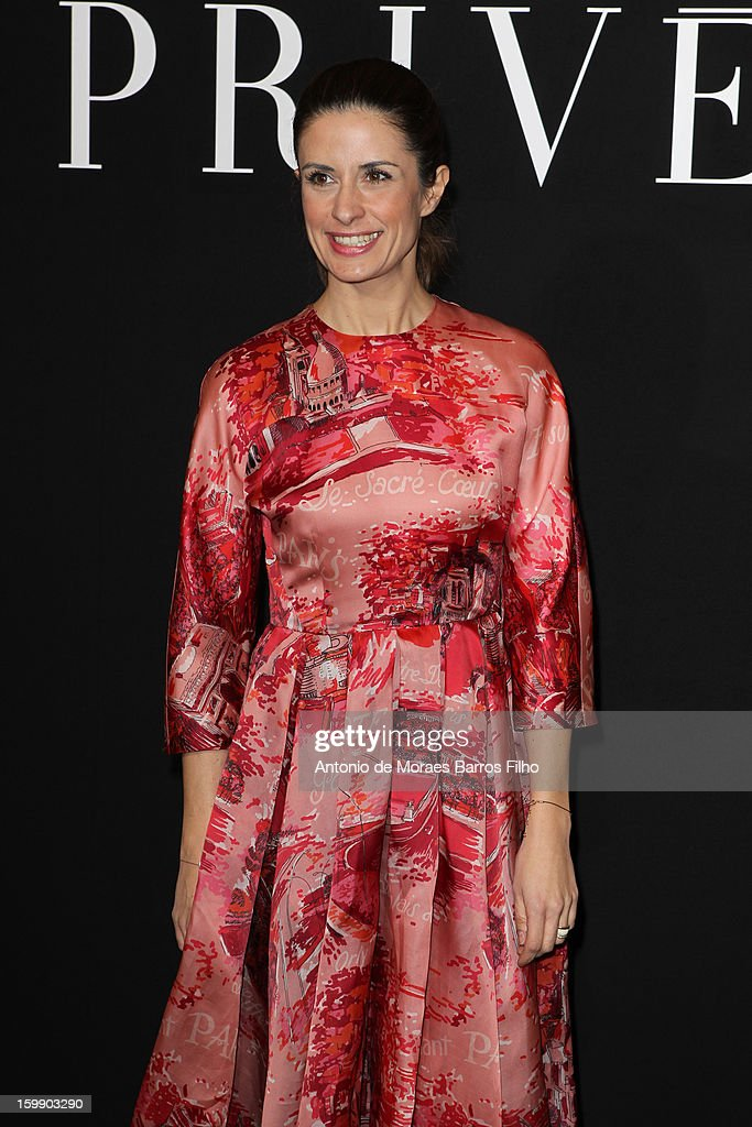 Livia Firth attends Giorgio Armani Prive Spring/Summer 2013 Haute-Couture show as part of Paris Fashion Week at Theatre National de Chaillot on January 22, 2013 in Paris, France.