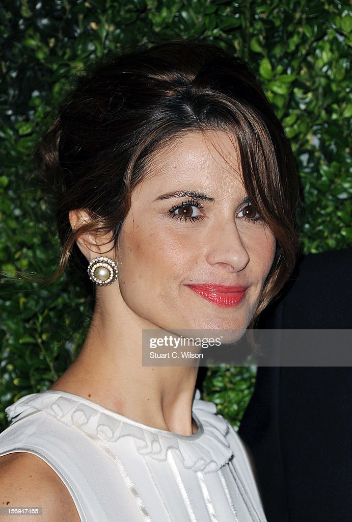Livia Firth attends the 58th London Evening Standard Theatre Awards in association with Burberry on November 25, 2012 in London, England.