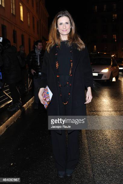 Livia Firth attends the Giambattista Valli show as part of Paris Fashion Week Haute Couture Spring/Summer 2014 on January 20 2014 in Paris France