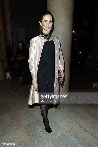 Livia Firth attends the Giorgio Armani Prive show as part of Paris Fashion Week Haute Couture Spring/Summer 2014 on January 21 2014 in Paris France