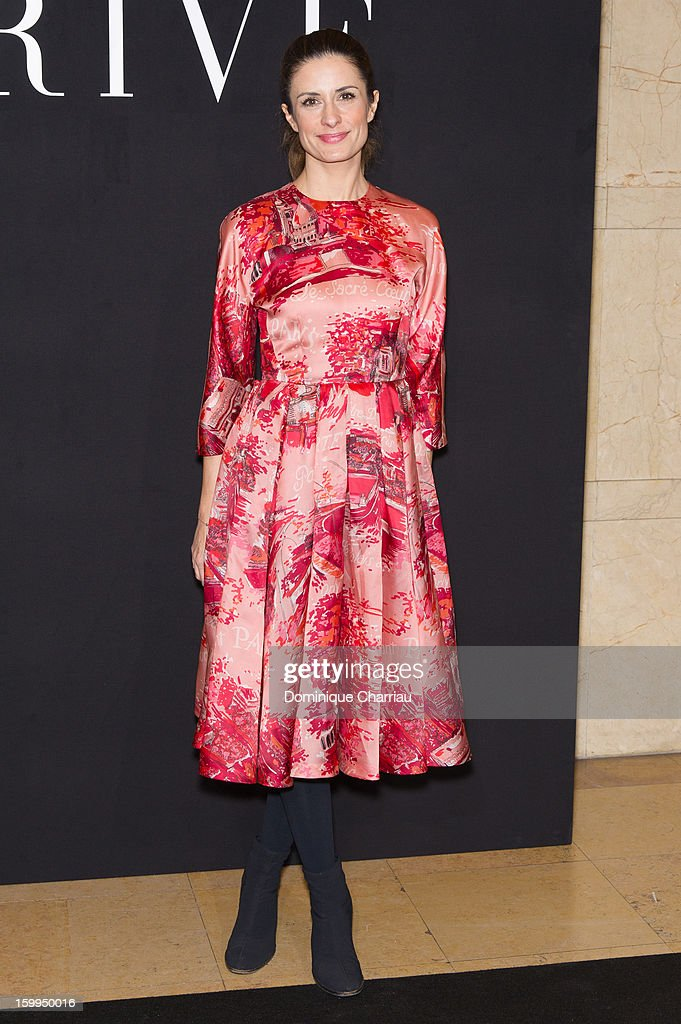 Livia Firth attends the Giorgio Armani Prive Spring/Summer 2013 Haute-Couture show as part of Paris Fashion Week at Theatre National de Chaillot on January 22, 2013 in Paris, France.