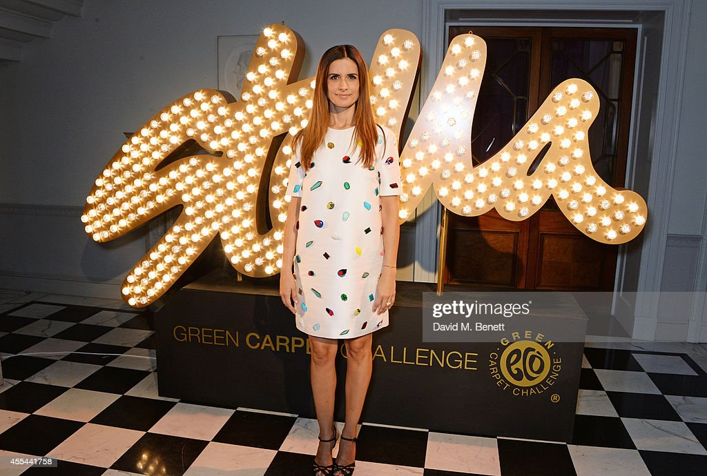 Livia Firth attends The London 2014 Stella McCartney Green Carpet Collection during London Fashion Week at The Royal British Institute on September...