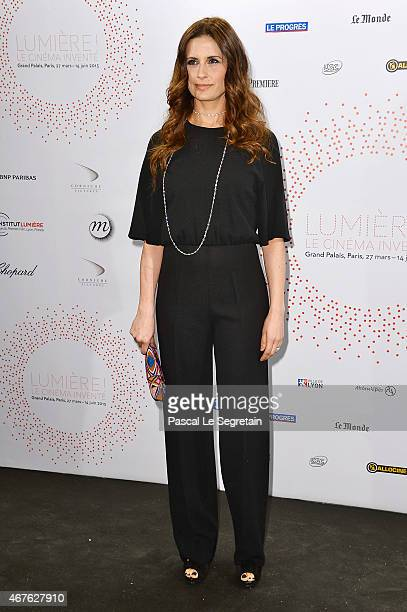 Livia Firth attends The Lumiere Le Cinema Invente exhibition preview on March 26 2015 in Paris France