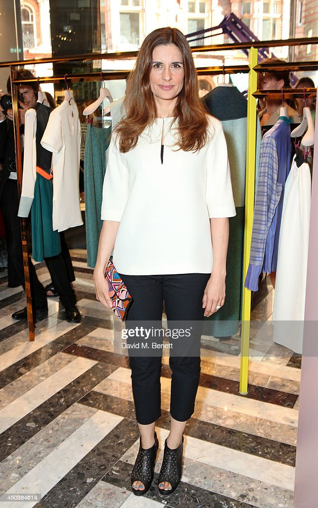 Livia Firth attends the opening of Roksanda on Mount Street on June 10 2014 in London England