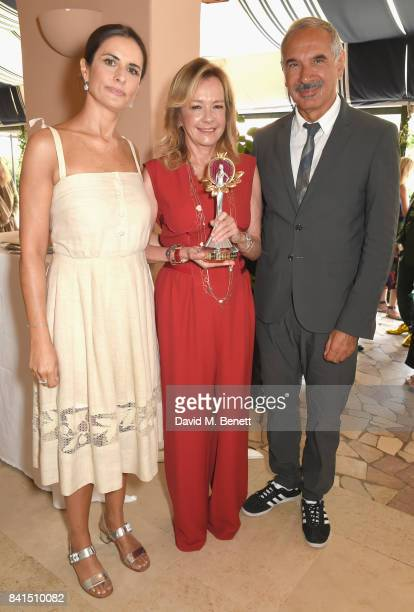 Livia Firth Caroline Scheufele and Carlo Capasa attend an intimate lunch hosted by Livia Firth Carlo Capasa and Caroline Scheufele to announce...
