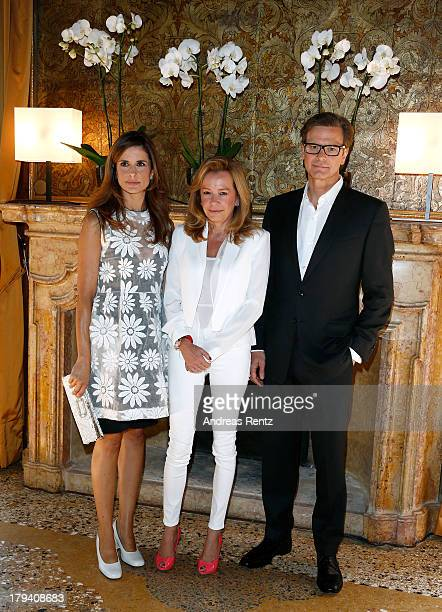 Livia Firth Caroline Scheufele and Colin Firth attend Chopard Photocall during the 70th Venice International Film Festival at Palazzo del Casino on...