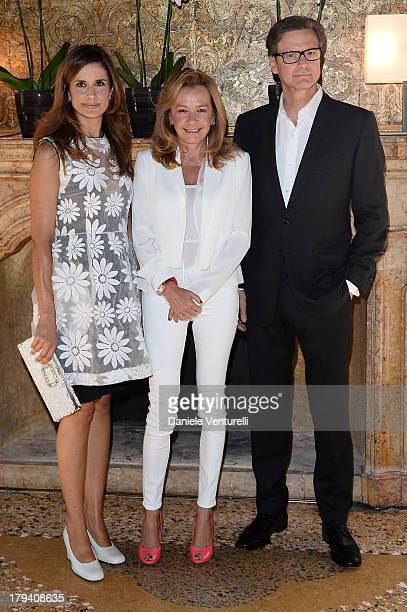 Livia Firth Chopard copresident and artistic director Caroline Scheufele and actor Colin Firth attend Chopard during the 70th Venice International...