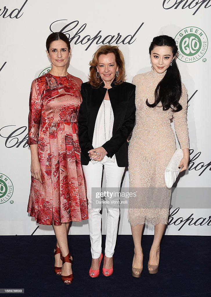 Livia Firth CoPresident of Chopard Caroline GruosiScheufele and Fan Bingbing attend a lunch hosted by Chopard during The 66th Annual Cannes Film...