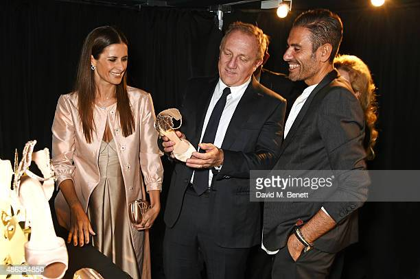 Livia Firth Creative Director of EcoAge and founder of the Green Carpet Challenge FrancoisHenri Pinault CEO of Kering and Angelo Ruggeri Collections...