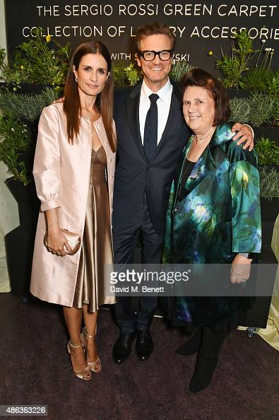 Livia Firth Creative Director of EcoAge and founder of the Green Carpet Challenge Colin Firth and Suzy Menkes attend the launch of the Sergio Rossi...
