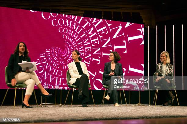 Livia Firth founder and creative director EcoAge Ulla Tørnaes Minister for Development Cooperation Denmark Jessica Simor lawyer European Court of...