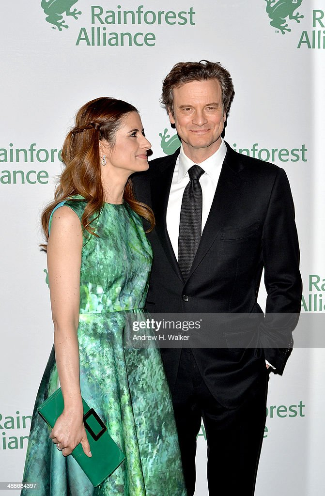 Livia Giuggioli and Colin Firth attend the 2014 Rainforest Alliance Gala at American Museum of Natural History on May 7, 2014 in New York City.