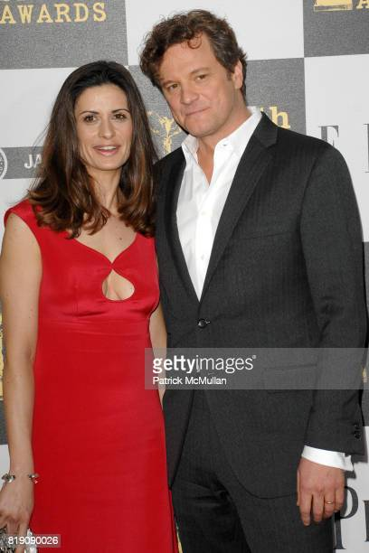 Livia Giuggioli and Colin Firth attend The 25th INDEPENDENT SPIRIT AWARDS ARRIVALS at Nokia Theatre LA Live on March 5 2010 in Los Angeles California