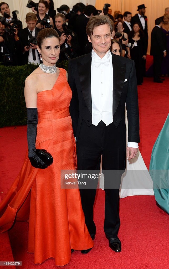 Livia Giuggioli and Colin Firth attend the 'Charles James: Beyond Fashion' Costume Institute Gala held at the Metropolitan Museum of Art on May 5, 2014 in New York City.