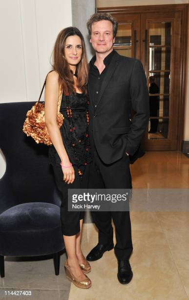 Livia Giuggioli and Colin Firth attend The Corinthia fundraising evening for Gender Rights Equality Action Trust at Corinthia Hotel London on May 19...