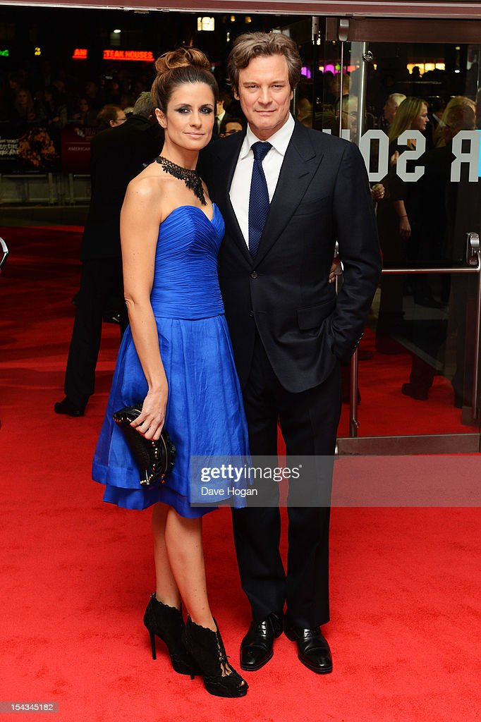 Livia Giuggioli and Colin Firth attend the premiere of 'Crossfire Hurricane' during the 56th BFI London Film Festival at The Odeon Leicester Square on October 18, 2012 in London, England.