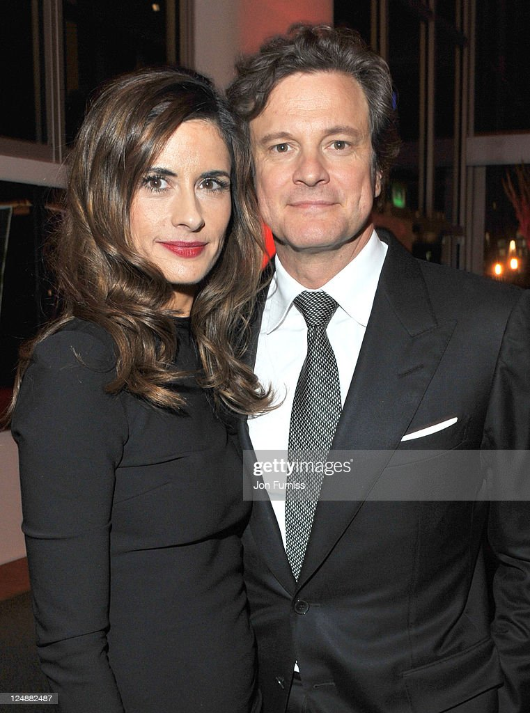 Livia Giuggioli and Colin Firth attend the ' Tinker, Tailor, Soldier, Spy' UK premiere after party on September 13, 2011 in London, England.