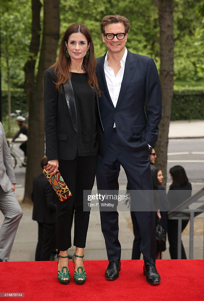 Livia Giuggioli and Colin Firth attends the UK Film premiere of 'The True Cost' at Curzon Bloomsbury on May 27 2015 in London England