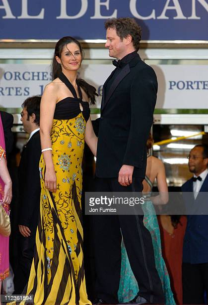 Livia Giuggioli and Colin Firth during Cannes 2005 Film Festival 'Where The Truth Lies' Premiere at Palais Du Festival in Cannes France