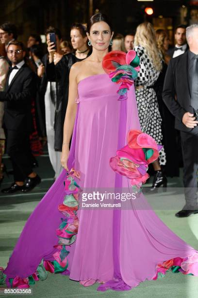 Livia Giuggioli attends the Green Carpet Fashion Awards Italia 2017 during Milan Fashion Week Spring/Summer 2018 on September 24 2017 in Milan Italy