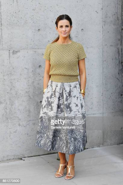 Livia Giuggioli Firth attends the Giorgio Armani show during Milan Fashion Week Spring/Summer 2018 on September 22 2017 in Milan Italy