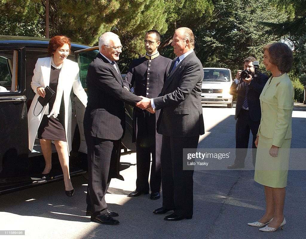 Livia Klausova Vaclav Klaus King Juan Carlos of Spain and Queen Sofia