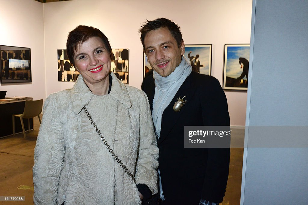 Livia Stoianova and Yassen Samouilov from 'On Aura Tout Vu' attend the 'Art Paris 2013' Preview at Le Grand Palais on March 27, 2013 in Paris, France.
