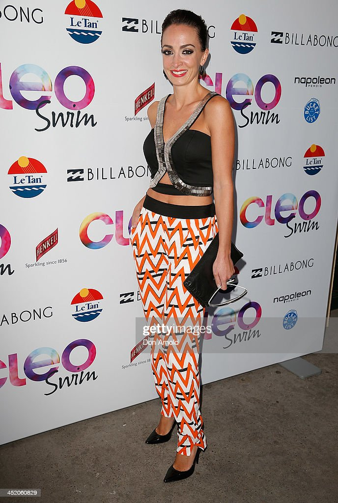 Livia Tassanyi poses at the 2013 CLEO Swim Party at The Bucket List on November 26, 2013 in Sydney, Australia.