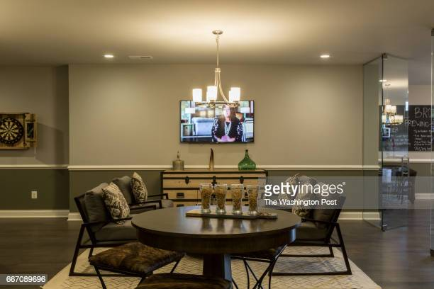 Living Area in the Basement of the Tradition Model at Regency at Creekside on March 28 2017 in Gainesville Virginia