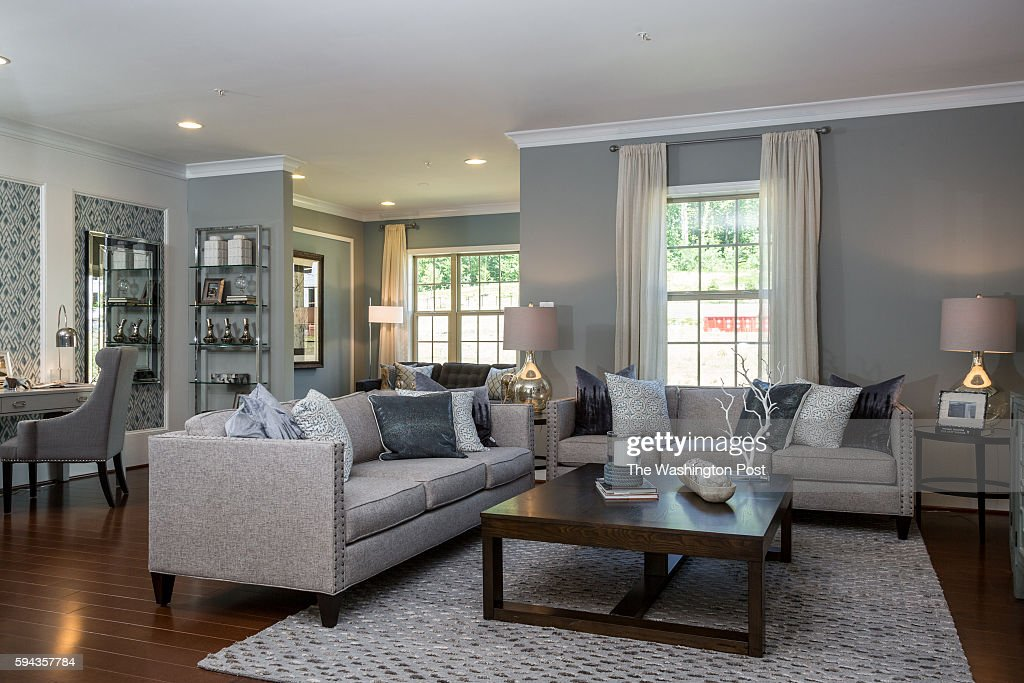 Living area in the Glasgow Model at Admirals Ridge on August 11 2016 in Arnold Maryland