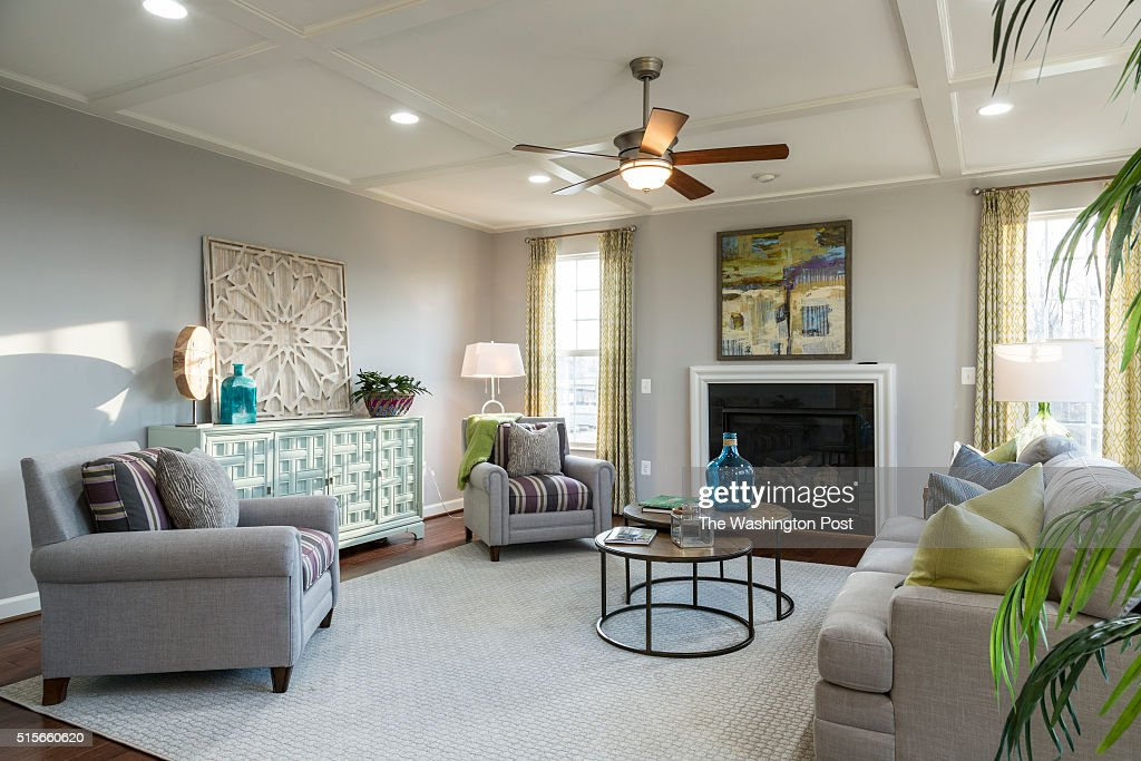 Living Area in the Lynhurst Model at Hickory Falls on March 1 2016 in Woodbridge Virginia