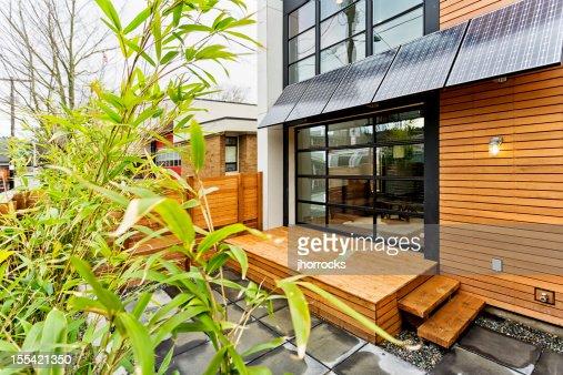 Salon Vert avec des panneaux solaires