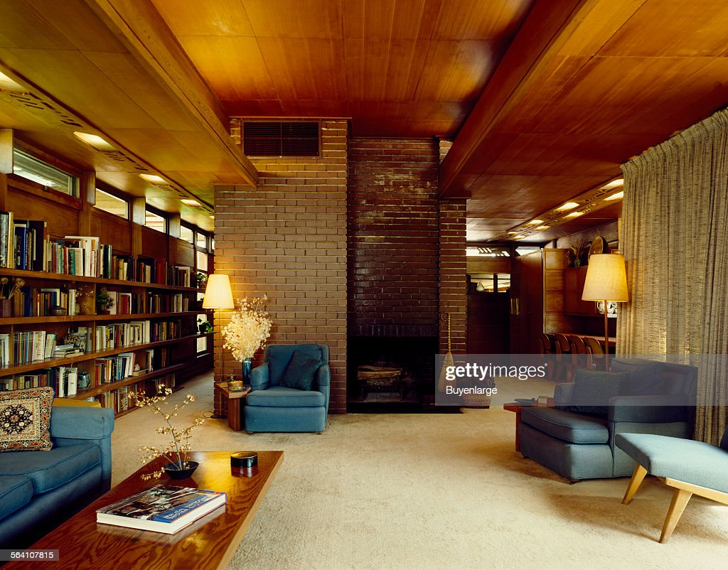 Living Room At The Stanley Rosenbaum House, One The Usonian Style Homes  Designed By Part 84