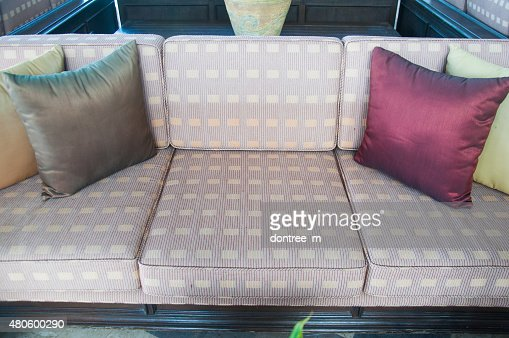 Living room furniture. Leather furniture : Stock Photo