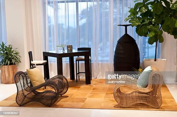 Sala de Estar com mobiliário Salão de Exposições