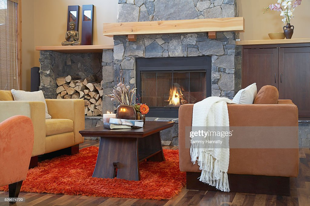 Living room in chalet : Foto stock
