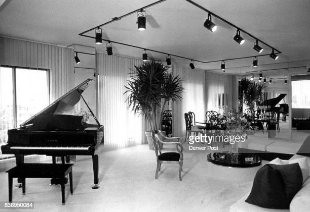 Living room in designer condominium is study of contrasts of black and white Credit The Denver Post
