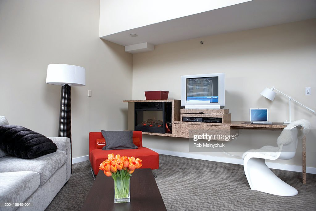 Living room in hotel suite : Stock Photo