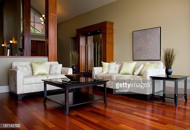 Sala de estar em casa de luxo