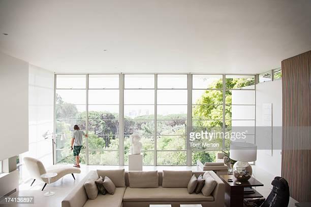 Salle de séjour d'une maison moderne
